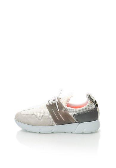 Blauer Pantofi sport alb cu gri
