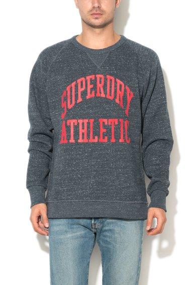 Superdry Bluza sport gri inchis melange cu imprimeu logo Tigers Athletics