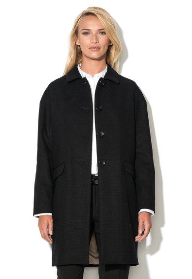 FashionDays.ro: Haina neagra din amestec de lana United Colors Of Benetton