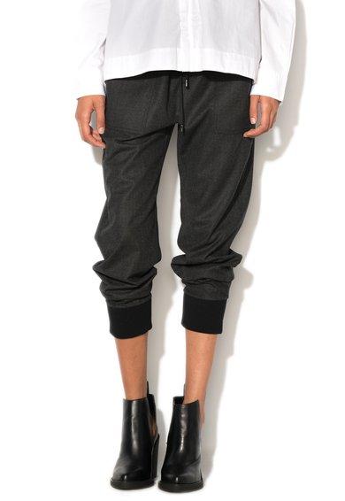 FashionDays.ro: Pantaloni gri antracit din amestec de lana virgina Picya Diesel Black Gold