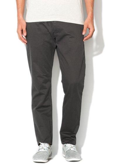 Pantaloni chino slim fit gri inchis de la ESPRIT