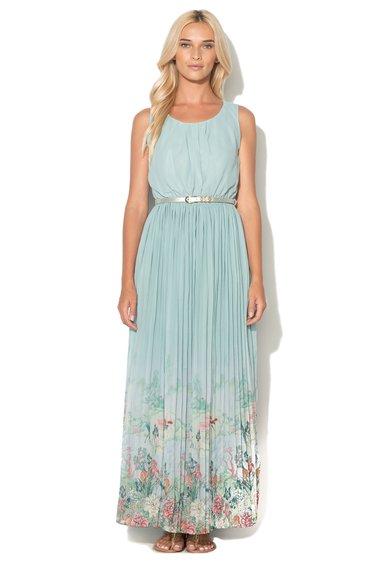 Rochie maxi albastru tiffany fara maneci de la Uttam Boutique