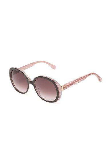 Ochelari de soare roz transparent cu maro cafea de la Fendi