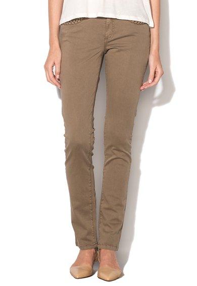 Pantaloni bej cu detalii impletite de la IKKS