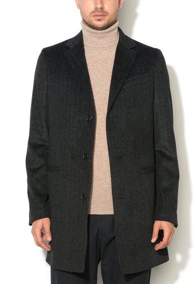 FashionDays.ro: Haina gri antracit din amestec de lana United Colors Of Benetton