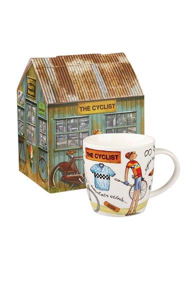 Cana multicolora de portelan The Cyclist