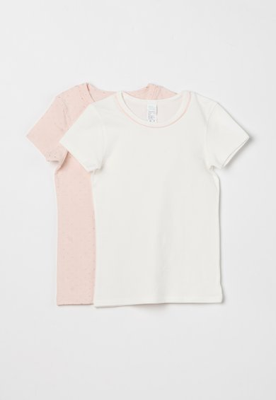 Set de tricouri roz pal cu alb – 2 piese de la Undercolors of Benetton