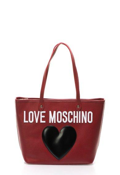 Geanta shopper rosie texturata cu logo de la Love Moschino