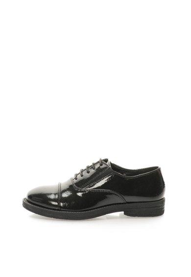 Pantofi lacuiti negri cu insertii elastice de la Francesco Milano