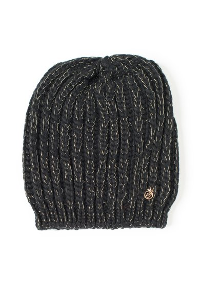 Caciula neagra tricotata de la Trussardi Jeans