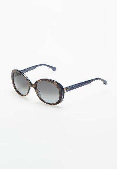 Ochelari de soare maro tortoise transparent cu albastru de la Fendi