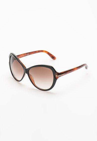 Ochelari de soare maro inchis cu maro tortoise Tom Ford