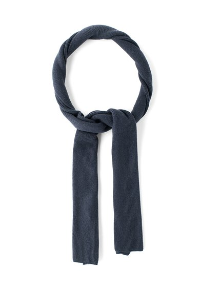 Fular bleumarin inchis din amestec de lana de la United Colors Of Benetton