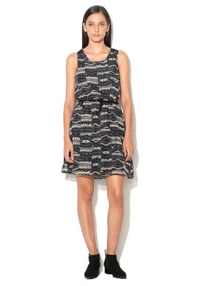 Rochie negru cu gri si imprimeu geometric Lia de la Only