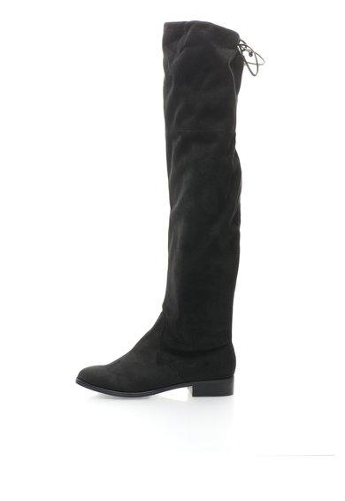 Cizme negre inalte peste genunchi Odina de la Steve Madden