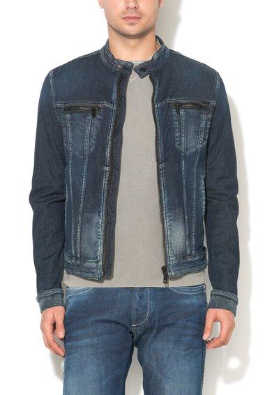 Jacheta albastru inchis din denim Oklahoma de la GAS
