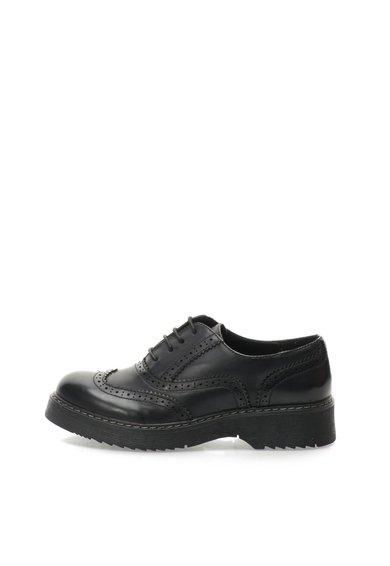 Pantofi Brogue negri Kenia de la Oakoui