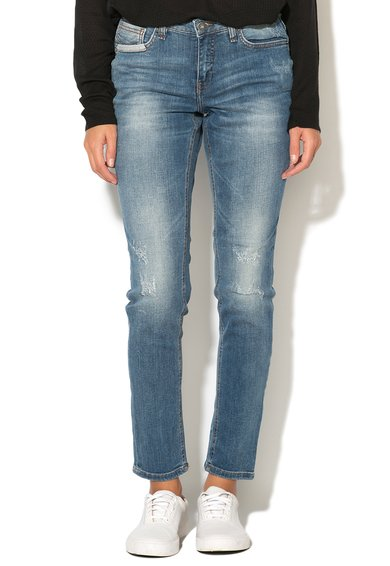 Jeansi bleu cu aspect decolorat Casual Kay de la Blend She