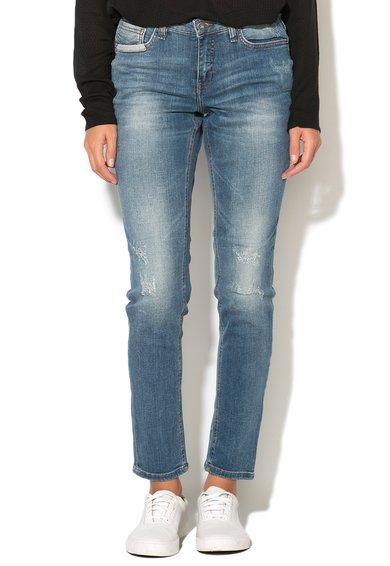 Jeansi bleu cu aspect decolorat Casual Kay de la Blend She