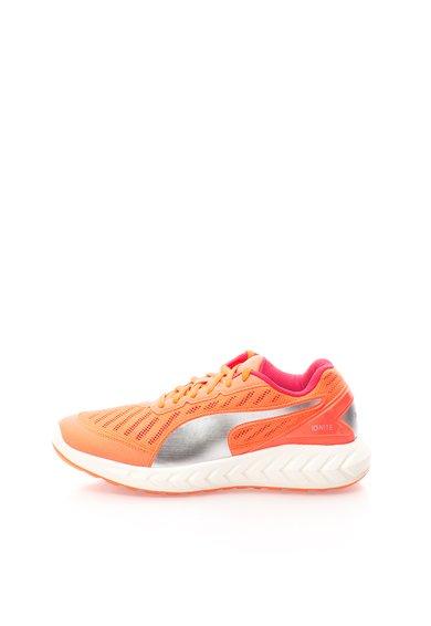 Pantofi sport oranj neon cu argintiu Ignite Ultimate Puma
