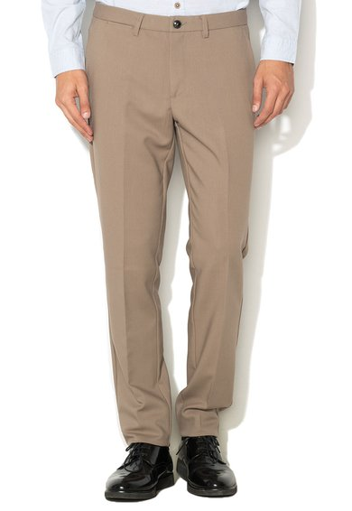 Pantaloni slim fit maro taupe de la United Colors Of Benetton