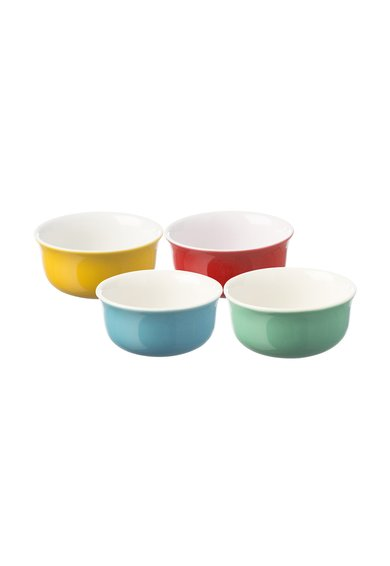 Set multicolor de boluri de portelan – 4 piese de la Typhoon
