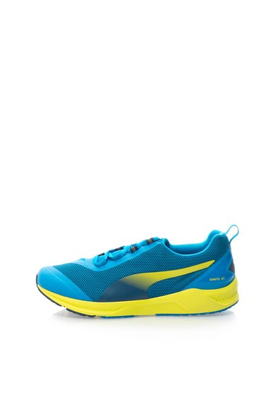 Pantofi sport turcoaz cu galben cu plasa Ignite