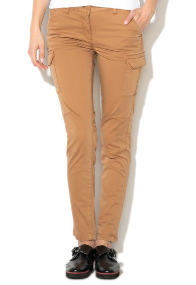 FashionDays.ro: Pantaloni cargo maro nisip Mella Napapijri