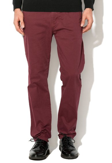 Pantaloni chino slim fit rosu Bordeaux de la ESPRIT
