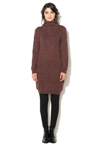Rochie tip pulover rosu Bordeaux melange Marat