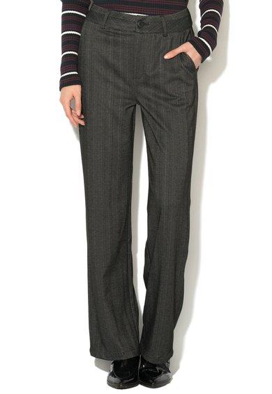 Pantaloni negri cu croiala ampla Mary de la kaffe