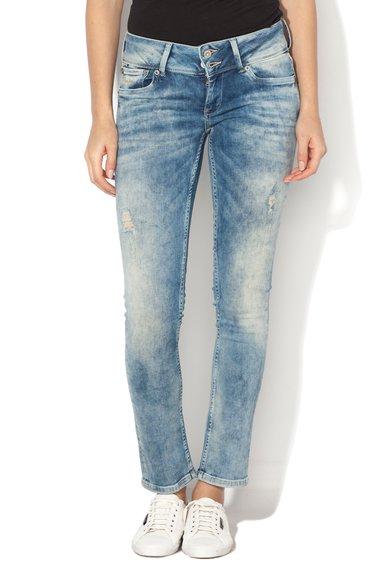 Jeansi albastri cu talie joasa Vera