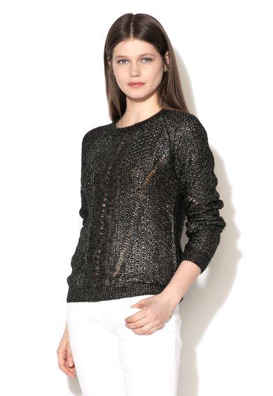 Pepe Jeans London Pulover negru cu argintiu Boronia