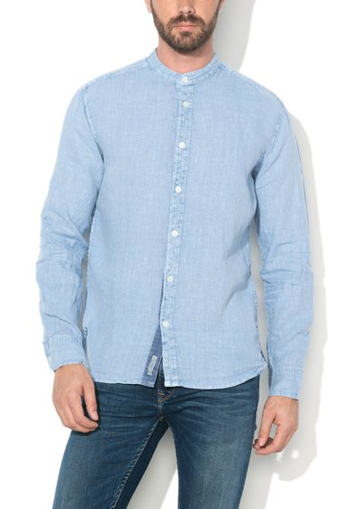 Camasa albastru pastel din in Baldwin de la Pepe Jeans London