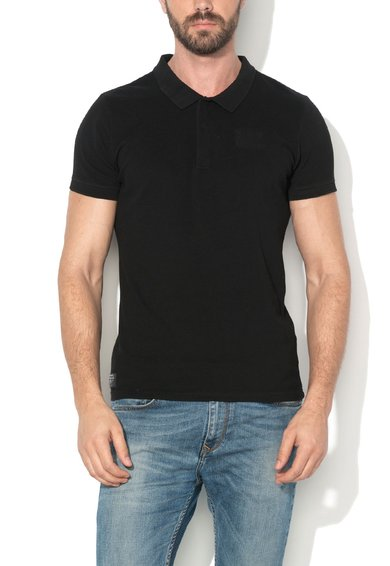 Tricou polo slim fit negru Clift de la Pepe Jeans London