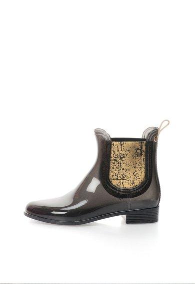 Ghete Chelsea negru cu auriu de ploaie Charcot de la Gioseppo