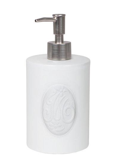 Dozator alb pentru sapun Broderie Mathilde M