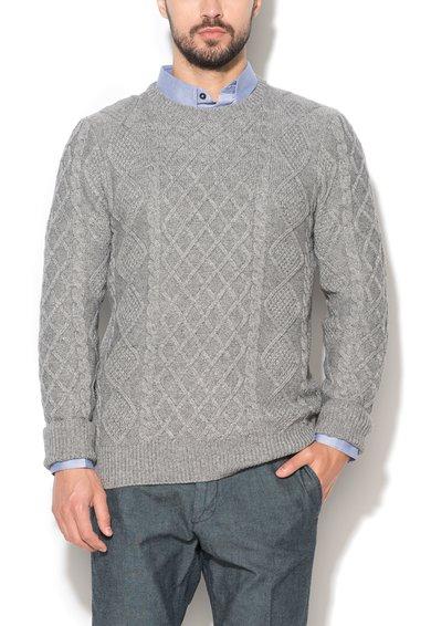 Pulover gri cu modele diverse tricotate de la ESPRIT
