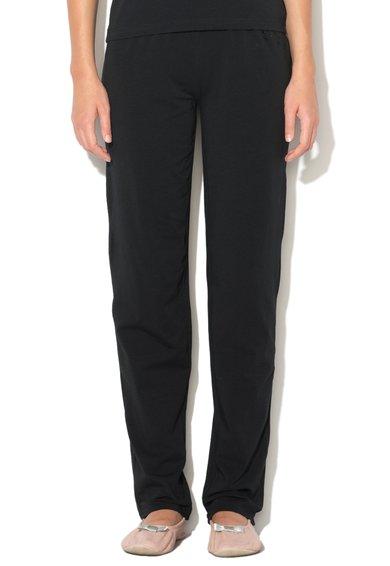 Pantaloni de casa negri cu strasuri