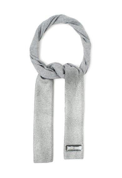 FashionDays.ro: Fular gri tricotat cu pelicula argintie Just Cavalli