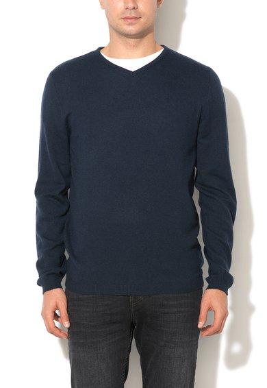 Bench Pulover bleumarin inchis din amestec de lana Per