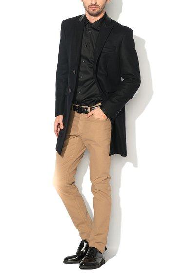 FashionDays.ro: Haina neagra din amestec cu lana Versace Collection