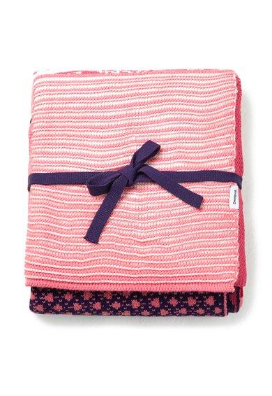 FashionDays.ro: Patura multicolora tricotata cu model patchwork Desigual living