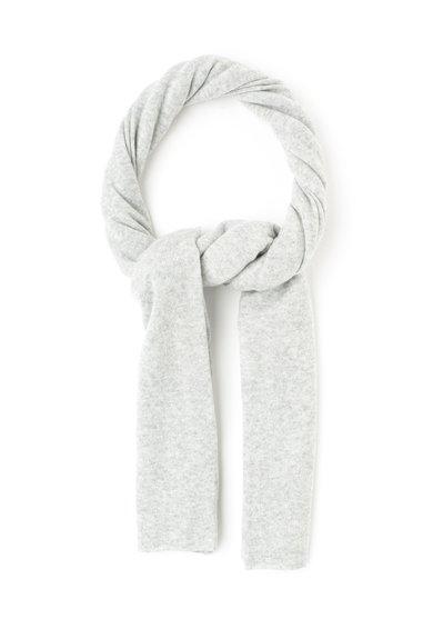 Fular gri deschis melange de lana si casmir