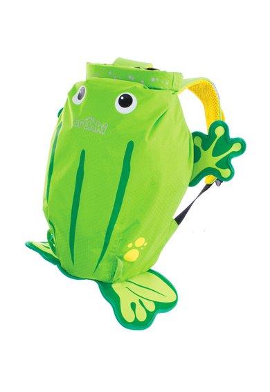 Rucsac verde cu design broasca de la Trunki