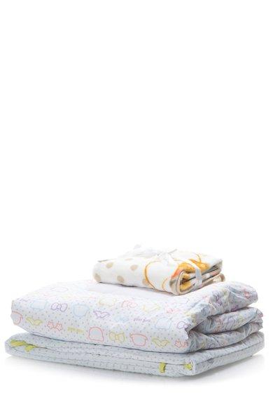 Set de patut alb cu imprimeu de la NAF NAF linge de maison enfant