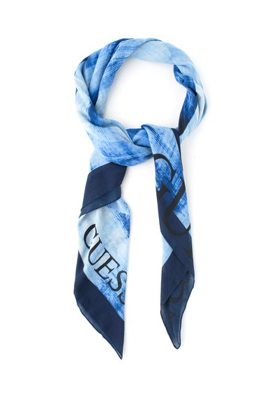 FashionDays.ro: Esarfa in nuante de albastru GUESS