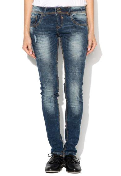 Alcott Jeansi super skinny albastri cu aspect decolorat