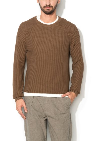 Selected Homme Pulover maro texturat Rolf
