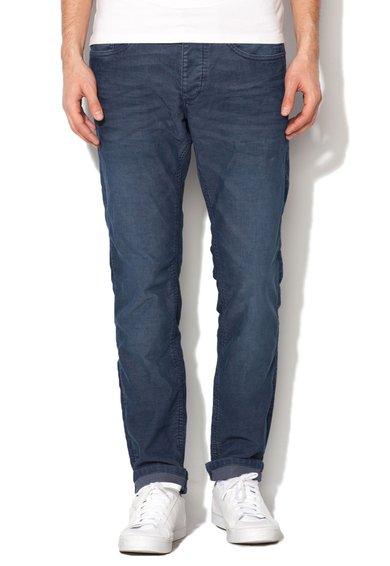 Pantaloni slim fit bleumarin stins reiati de la EDC by ESPRIT